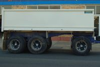 Australian made 3 axle dog trailer with body